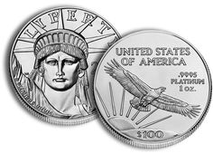Platinum American Eagle Proof - The American Platinum Eagle is the official platinum bullion coin of the United States. The coins were first released by the United States Mint in 1997. It is offered in 1/10, 1/4, 1/2, and 1 troy oz varieties and consists of .9995 fine platinum.