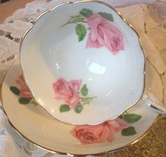 Paragon cup and saucer by VintageSowles on Etsy