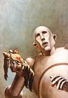 Magazine cover art by Frank Kelly Freas; also used on Queen's News of the World album.