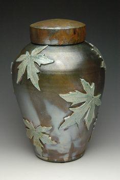 hand thrown ceramic stoneware cremation urns, funeral urns or funerary urns