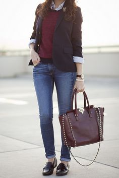 jeans and loafers outfit inspiration for fall M Loves M ...
