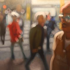 On of Philip Barlow's amazing 'out of focus' paintings. Love.