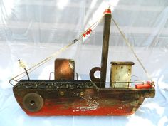 june-9 Wood Projects, Projects To Try, Wood Boats, Driftwood Crafts, Wooden Ship, Steamers, Wood Creations, Salvaged Wood, Ship Art