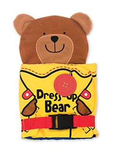 Melissa and Doug Soft Activity Baby Book - Dress Up Bear Book Activities, Toddler Activities, Activity Books, Kids Dress Up, Thing 1, Melissa & Doug, Developmental Toys, Learning Toys, Kids Toys