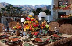 Al Fresco Dining - what a beautiful backdrop!