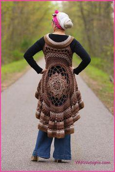 Crochet Tutorial: Spring Sun Mandala Vest « YARNutopia by Nadia Fuad
