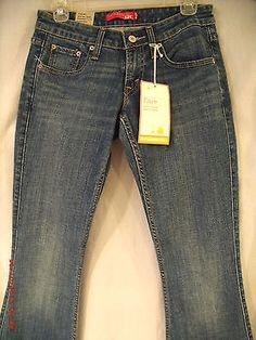 "Nwt*Levi's*Juniors Womens DenimJeans $40 Sz3medium Flare Stretch SuperLow 30x33"" LEVI'S NWT FREE SHIPPING!!!!"
