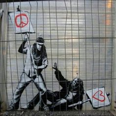 ESPECIAL BANKSYS  http://bit.ly/1hpQdAp  #ParedesUrbanas #RoleUrbano #ChegaDeCidadeCinza #ArteDeRua #Graffiti #ArteVandala #ArtistasUrbanos #Instagran #SpLovers #SampaGraffiti #StreetArtGraffiti #VandalosUrbanos #Resistencia #RevolutionNow #ArtHouse #StreetArtNews #RuaSP #OlheOsMuros #Respeito #NoWar #YesPeace #PixoIsNotACrime #StreetArtStencil #ACAB #Instagrafite #NosMurosDeSampa