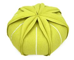 Upholstered technical fabric pouf with removable lining EUCHARIS Eucharis Collection by Darono