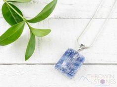 Buy Now BLUE KYANITE Healing Crystal Raw Pendant - Bridesmaid... Healing Crystal Jewelry, Crystal Pendant, Etsy Bridesmaid Gifts, Raw Stone Jewelry, Chains For Sale, Healing Stones, Stones And Crystals, Pendants, Stuff To Buy