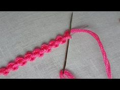 Basic hand embroidery tutorial , palestrina double knot stitch,twilling embroidery stitch This video about palestrina stitch . stay with Today fashion Embroidery Materials, Hand Embroidery Videos, Hand Embroidery Flowers, Embroidery Stitches Tutorial, Sewing Stitches, Crewel Embroidery, Hand Embroidery Patterns, Embroidery Kits, Ribbon Embroidery