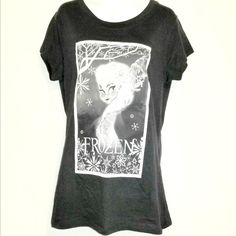 Girls Tee Shirt HANES Black V Neck Gathered CAP SLEEVE M 7-8  Lg 10-12  XL 14-16