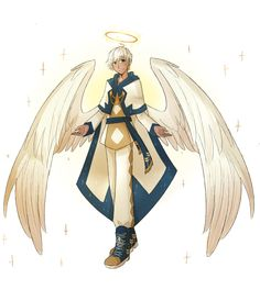 ʏᴇs. — did an angel design for lucifer from obey me did in 2020   obey, anime, anime guys