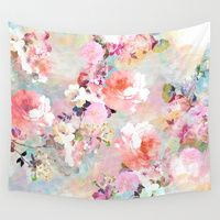 Wall Tapestries featuring Love of a Flower by Girly Trend