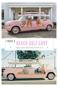Afternoon at the New Rosewood Miramar Beach — S. Beach Rides, Beach Cars, Miramar Beach, Delray Beach, Fancy Cars, Cute Cars, Golf Cart Bodies, American Girl Doll Sets, Custom Golf Carts