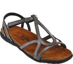 d9c2e82fe270cc Naot Leather Multi-strap Sandals - Dorith — QVC.com Naot Shoes