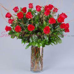 Sonny Alexander Flowers, Roses, rose vase arrangement, flowers, Valentines day arrangement