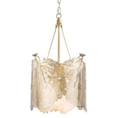 Regina Andrew Lighting Sea Fan Brass Large Chandelier @LaylaGrayce