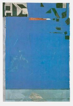 Richard Diebenkorn-  Example of: Contrast of Extension. The blue is the ground despite the dark green because blue covers more area.
