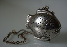 French Art Deco Silver Plate ELLDEE Tea Infuser Strainer by LOPRE $30.77 etsy