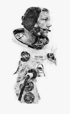 Pencil illustration by Paul Calle, one of eight artists chosen to be in the NASA Art Program in Mr. Calle documented NASA space missions through his detailed sketches until Apollo Space Program, Nasa Space Program, Pencil Illustration, Watercolor Illustration, Programa Apollo, Amazing Drawings, Drawing Sketches, Sketching, Figure Drawing