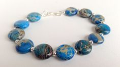 Imperial Jasper and Sterling Silver by TheBeadtiqueJewelry on Etsy, $24.00