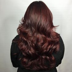 RUBY RED LOCKS  . . . This gorgeous hair was mossy green before. Incredible work by @hairbyblancajanet_salonink