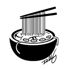 Noodles Barcode by Cryotube on DeviantArt and I love noodles PD