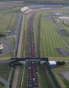 964 Ferraris set off around Brands Hatch in a salute to the Iconic motor maker.