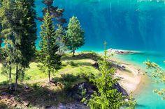 Keine Palmen, sondern Nadelbäume. Könnte auch in Kanada sein... Good To Know, Switzerland, Golf Courses, Rapunzel, Hiking, Travel, Paisajes, Flims, Caribbean