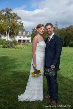 Thank you wedding sign at The Inn at Stonecliffe Mackinac Island Wedding Venue #MackinacIsland #Wedding #Venue #NorthernMichigan #DestinationWedding