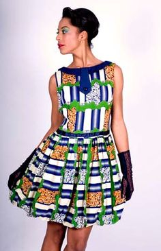 Dress 50s african style. by DeLaManu on Etsy, $40.00