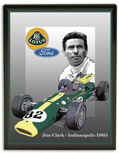 Jim Clark 1965 Indianapolis 500 Winning LotusFord Canvas by aveart – Sport is lifre Indy Car Racing, Indy Cars, Formula 1, Lotus Car, Indianapolis Motor Speedway, Automotive Art, Commercial Vehicle, Vintage Racing, Race Cars