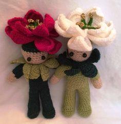 My crochet poinsetia