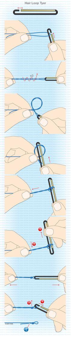 Knot tools: Gardner Hair loop tyer