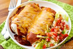 Smothered Burritos: Cheesy, saucy, GINORMOUS—this is a knife and fork kind of burrito. - Delish.com