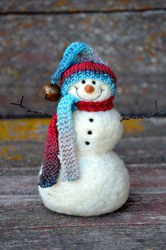 Needle Felted Snowmen  by BearCreekDesign