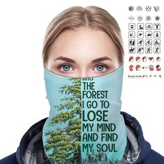 Into The Forest I Go To Lose My Mind and Find My Soul Bandana Shield B1106 Lose My Mind, Losing Me, Bandana, Mindfulness, Bandanas, Consciousness