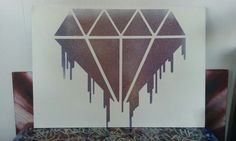 #diamond #spraypaint #painting