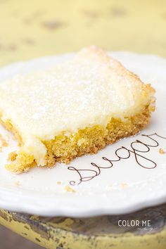 Gooey Butter Bars - paula deen recipe- 5 ingredients and so ridiculous good!