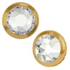 Swarovski Crystal, 2078/H Framed Round Flatback Rhinestone 4.5mm, 24 Pieces, Crystal /