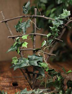 Miniature Fairy Gardens   Mini Real Twig Fairy Garden Trellis - Fairy Garden Miniatures ...