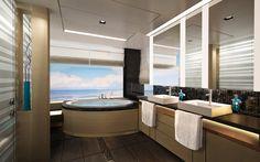 The Haven 2-Bedroom Family Villa  bathroom on board Norwegian Breakaway