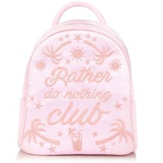 Rather Do Nothing Mini Backpack ❤ liked on Polyvore featuring bags, backpacks, mini rucksack, miniature backpack, satin bags, mini zipper bags and mini backpack
