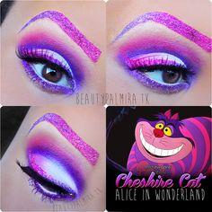 """Disneys """"Cheshire Cat"""" Alice in Wonderland on @Makeupbee http://www.makeupbee.com/look.php?look_id=74940"""
