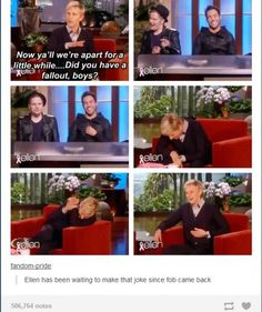 Ellen and Fall Out Boy