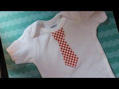 Appliqued Tie Onesie Tutorial - Easy - Whitney Sews