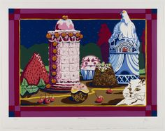 Sweet City, Peter Paone, 1979, color screenprint