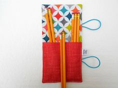 Mini Pencil Roll  Cathedral Windows  holds 10  by paperfromheaven, $10.00
