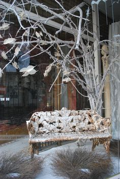 store display inspiration How is the bench distressed??